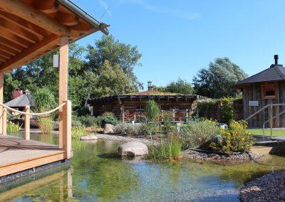 Saunalandschaft im aquaLaatzium